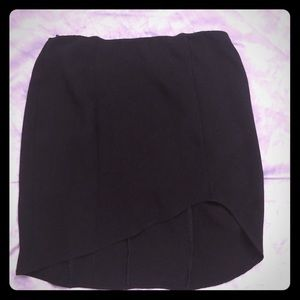 Honey Punch asymmetrical mini skirt